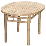 Oval Bamboo Table 35x24x19